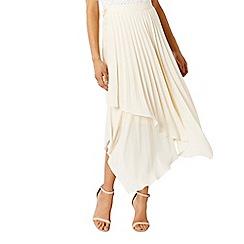 Coast - Natural cream catania pleated skirt