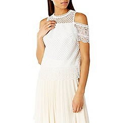 Coast - Fabron lace top
