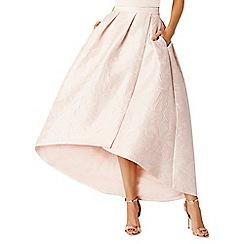 Coast - Blue Leah jacquard hi low skirt