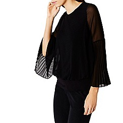 Coast - Elisa pleated sleeve calla top