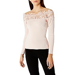 Coast - Lilith lace bardot knit top