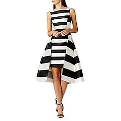Coast - Kady stripe full midi dress