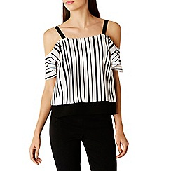 Coast - Jerry stripe cold shoulder top