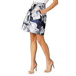 Coast - Blue Rosali jacquard skirt