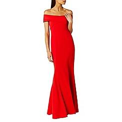 Coast - Sophie red scuba prom dress