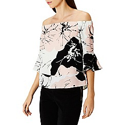 Coast - Debenhams Exclusive - Albanny print bardot top