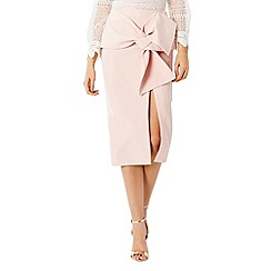 Coast - Lui blush bow pencil skirt