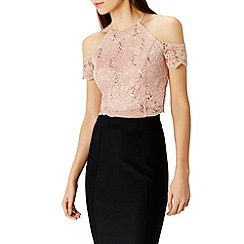 Coast - Dominica lace cropped top