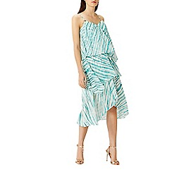 Coast - Montego stripe tiered dress