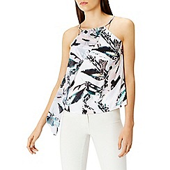 Coast - Butani leaf print ruffle top
