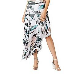 Coast - Butani asymmetric printed skirt