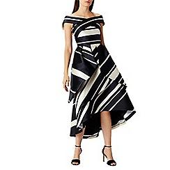 Coast - Eve stripe bardot dress