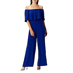 Coast - Navy 'Naima' bardot wide leg jumpsuit
