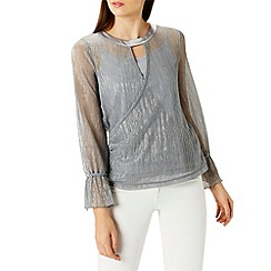 Coast - Lou wrap metallic top