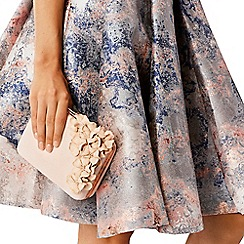 Coast - Blush floral artwork 'Lottie' clutch bag