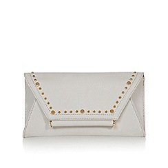 Coast - Silver 'Lily' studded clutch bag