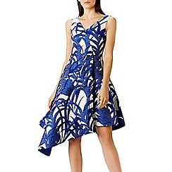 Coast - Palm jacquard dress