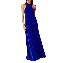 Coast - Bright blue corwin multi tie jersey maxi dress
