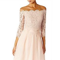 Coast - Pink Marr lace bardot top