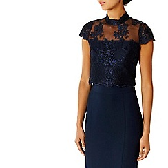 Coast - Navy jen lace bridesmaid top