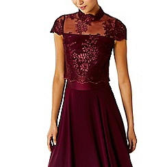 Coast - Merlot 'Jen' lace bridesmaid top