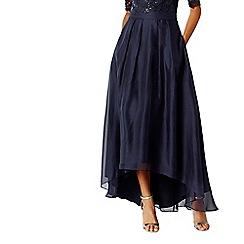 Coast - Navy Iridessa high low skirt