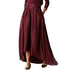 Coast - Merlot organza 'Iridessa' high low bridesmaid skirt