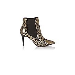 Coast - Multi jacquard print 'mizuna' high heeled ankle boots