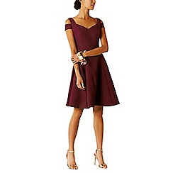 Coast - Merlot cotton blend 'Ava' sweetheart neckline bridesmaid dress