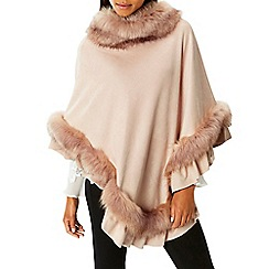 Coast - Blush 'Mcwilliams' faux fur poncho