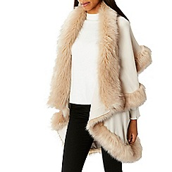 Coast - Ivory 'Kate' faux fur cape