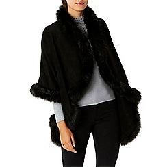 Coast - Black faux fur 'Kate lynn' cape