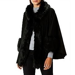 Coast - Black faux fur 'Bostock' cape