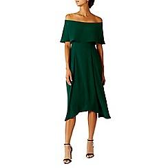 Coast - Forest 'Booke' bardot neckline bridesmaid dress