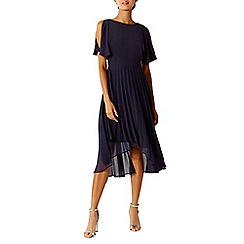 Coast - Navy 'Hermoine' cold shoulder midi bridesmaid dress