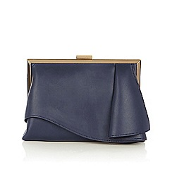 Coast - Navy 'Rae ruffle' clutch bag