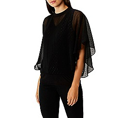 Coast - Black spotted 'mia calla' high neck top