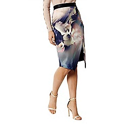 Coast - Multi 'Selenis' print pencil skirt