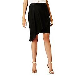 Coast - Black 'Mindi' asymmetrical pencil overlay skirt