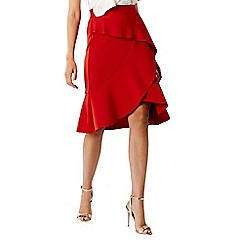 Coast - Red 'Keegan' ruffle skirt