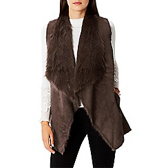 Coast - Brown faux fur shearling 'Lia' gilet