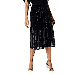 Coast - Navy sequin 'Joey' midi panelled skater skirt