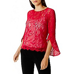 Coast - Pink 'Tricia' lace top