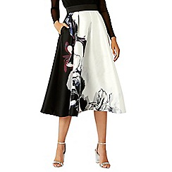 Coast - Debenhams Exclusive- Multi floral print 'Trudy' midi full skirt