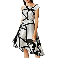 Coast - Monochrome 'Barton' Print Full Midi  Dress
