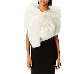 Coast - Ivory faux fur 'Luella' scarf