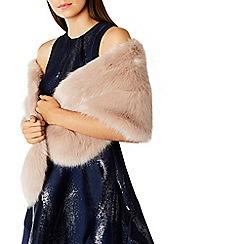 Coast - Blush faux fur 'Luella' scarf