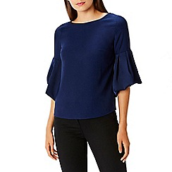 Coast - Navy 'Anais' bell sleeves blouse