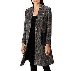 Coast - Monochrome wool blend  'Carmita' faux fur pocket coat