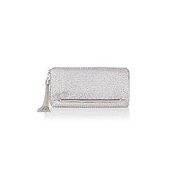 Coast - Silver 'Ivy' sparkle clutch bag